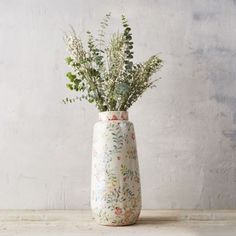 Rose & Vine Terracotta Vase
