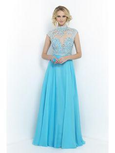 (NEW) 2015 High collar flash diamond elegant prom dresses