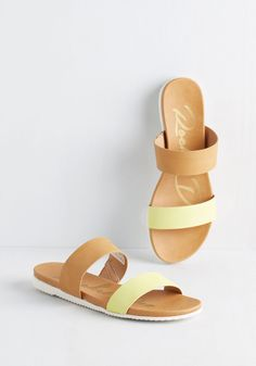 Highlight of Your Trip Sandal. The sights were stunning and the fare was fantastic, but these comfy vegan faux-leather sandals have secured the spot as number one feature of your vacay.  #modcloth