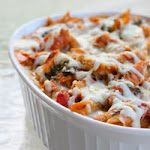 Ligth Three cheese chicken penne