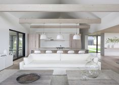 Home Interior Salas O. Residence by Bruns Architecture and Lindsay Pauly Monochrome Interior, Gray Interior, Interior And Exterior, Interior Design, Diy Design, Interior Modern, Tamizo Architects, Timber Beams, Indian Home Decor
