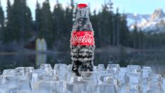 coca-cola over ice, Mauro Abde on ArtStation at https://www.artstation.com/artwork/JJRQR