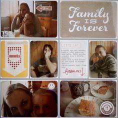 Project life 2014 - 48. týden (pravá strana) Families Are Forever, Project Life, Eat, Projects, Log Projects, Blue Prints