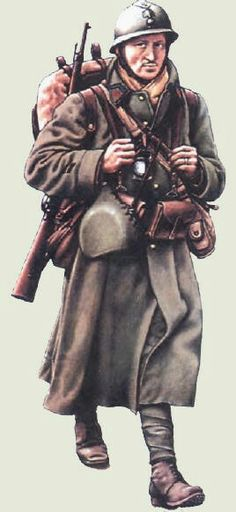 French infantry 1940 - corporal, pin by Paolo Marzioli Military Art, Military History, Ww2 Uniforms, Military Uniforms, French Armed Forces, Army Uniform, French Army, World War One, Wwii