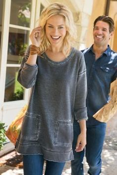 Afternoon Walk Tunic from Soft Surroundings                                                                                                                                                                                 More