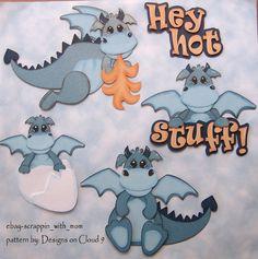 Dragones de papel empalme Hot Stuff para por Scrappinwithmomandme