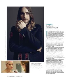 (2/2) Jared Leto.- The Wrap Magazine.- Oscar Wrap Issue.- November 2013.-