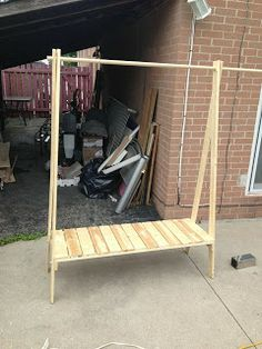 Could I do this? DIY Wooden Clothes Rack