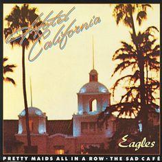 The Eagles met 'Hotel California'. THE EAGLES. The Eagles is een Amerikaanse rockband en is een van de meest succesvolste bands aller tijden. Eagles Band, The Eagles, Eagles Lyrics, Rock Album Covers, Classic Album Covers, Music Album Covers, Eagles Album Covers, The Who Album Covers, Iconic Album Covers