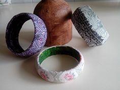 Pulseras tuneadas con  servilletas
