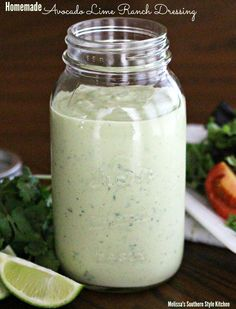 Homemade Avocado Lime Ranch Dressing. I just discovered this dressing at Chick Fil A... can't wait to try making it healthier!