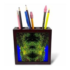 DYLAN SEIBOLD - PHOTO ABSTRACTION - TREE FISH FACE - Tile #Pen Holders #gifts  Link: