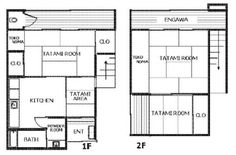 traditional japanese house floor plan - Google Search