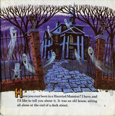 Walt Disney Presents The Haunted Mansion ©1970 - pg 1