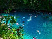 Enchanted River at Hinatuan, Surigao del Sur, Philippines.
