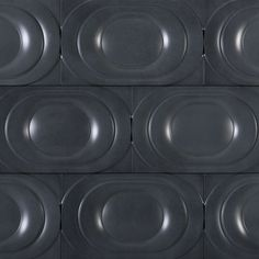 """""""Saturn"""" in Night Straight Gloss from the Kaza Concrete Tile Collection - Available at World Mosaic Tile in Vancouver."""