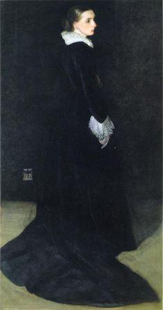 James Abbott McNeill Whistler - Arrangement in Black, No. 2: Portrait of Mrs…