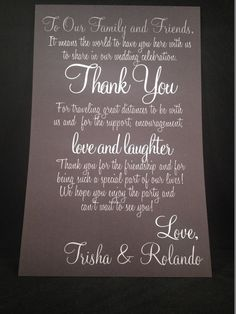 Wedding Welcome Letters by modernsoiree on Etsy, $1.25