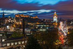 Edinburgh cityscape view, Calton Hill.