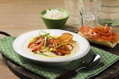 Zuppa di patata med parmaskinke og bruschetta