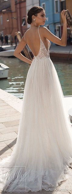Gali Karten Wedding Dresses 2018 - Burano Bridal Collection features exquisite gowns in a plethora of gorgeous silhouettes. Wedding Dresses 2018, Bridal Dresses, Backless Wedding Gowns, Boho Wedding Gown, Tulle Wedding, Wedding Tips, Mermaid Wedding, Wedding Styles, Wedding Ceremony