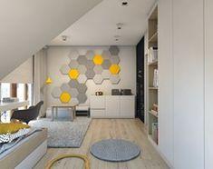 Dom jednorodzinny 7 - Średni pokój dziecka dla chłopca dla dziewczynki dla ucznia dla nastolatka, styl skandynawski - zdjęcie od BAGUA Pracownia Architektury Wnętrz