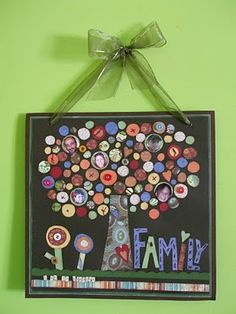 Family Tree Wall Hanging...would be a great family reunion craft!!