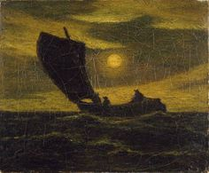 """Toilers of the Sea,"" Albert Pinkham Ryder, ca. 1880–85, oil on canvas, 10 1/4 in. x 12 1/4"", Addison Gallery of American Art."