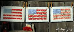 Vintage Grey: Patriotic Flag Tutorial