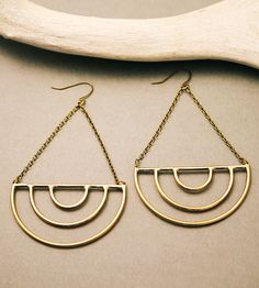 Visions Arc Drop Earrings by Crow Jane Jewelry on Scoutmob