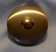 Luzier Compact Vintage Gold-Tone Pressed Face Powder