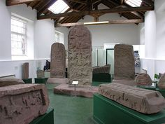 Pictish stones of Scotland at the Meigle Museum. One of the largest collections of Pictish Carved Stones in Scotland is gathered together in the Museum in the old schoolhouse in the village of Meigle, in Perthshire. Scotland History, Cairngorms National Park, Outer Hebrides, Scotland Travel, Vacation Places, British Isles, Great Britain, Archaeology, Celtic