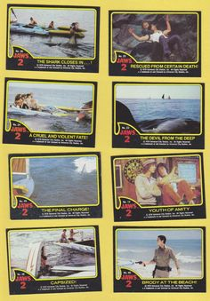 Jaws 2 Trading Cards