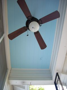 Haint Blue - To keep the ghosts away or to keep the bees from nesting. Either way, it's a charming Southern tradition.