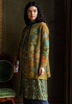 Long Cardigan, Sweater Cardigan, Gudrun, Pattern Mixing, Organic Cotton, Autumn Fashion, Curvy, High Neck Dress, Sari