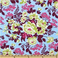 Joel Dewberry Heirloom Rose Bouquet Sky - for Kenna's room
