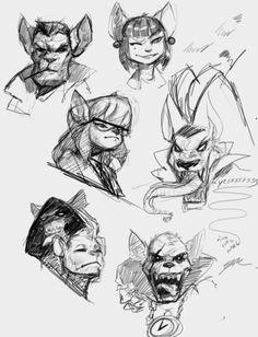 bookofrat:swat kat doodles…