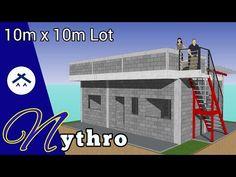 ARKIX3D - YouTube Modern House Floor Plans, House Plans, 3d Presentation, House Construction Plan, Cute House, Roof Deck, Small House Design, Diy Tutorial, Paper Crafts