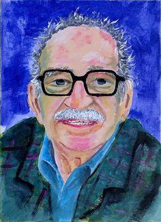 Una idea, mucho arte Gabriel García Márquez Acrílico sobre papel 39 x 28 cm. Autor Antonio Romero Santana
