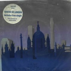 """XTC: Towers of London (1980). Those """"removable"""" stickers rarely are."""