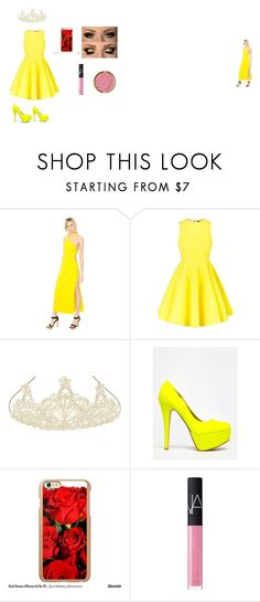 """""""Belle"""" by sunshinekej ❤ liked on Polyvore featuring Versace, AQ/AQ, Monsoon, Anne Michelle, Incipio, NARS Cosmetics, Milani, women's clothing, women's fashion and women"""