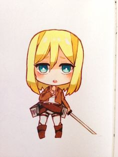 Christa Renz - Attack on Titan - Anime Chibi