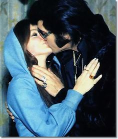 Priscilla and Elvis Presley - George Kliein's Wedding - December 5, 1970