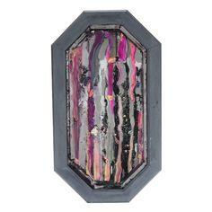 Teresa Hull Tolentino Abstract Mixed Media Painting on Mirror