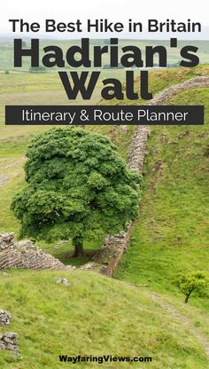 """Tackle the Hadrian's Wall walk with this 40 mile itinerary. It's a """"best of"""" itinerary with practical tips and a route map. Places To Travel, Travel Destinations, Travel Tips, Northumberland National Park, Northumberland England, Theme Harry Potter, Voyage Europe, Backpacking Europe, Best Hikes"""