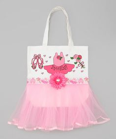 This Light Pink Personalized Tutu Tote is perfect! #zulilyfinds