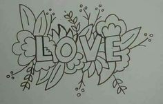 cute idea to make a word surrounded by flowers