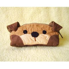 Cosmetic Bag, dog , toiletry bag, pencil bag , adorable doggy bag. by berriesDot on Etsy