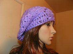 Beautiful Lavender Slouchy Tam Hat Hand Crochet by Susieskorner, $20.00