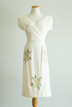 vintage 1960s dress / 60s embroidered cotton by HungryHeartVintage
